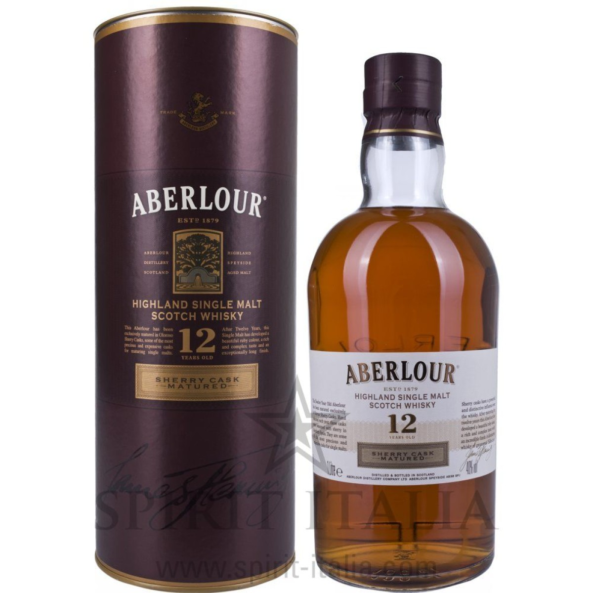 Aberlour 12 Years Old Sherry Cask Matured + GB