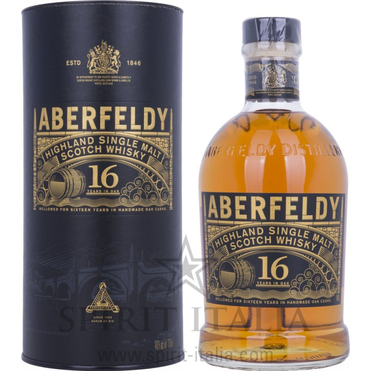 Aberfeldy 16 Years Old Highland Single Malt Scotch Whisky + GB