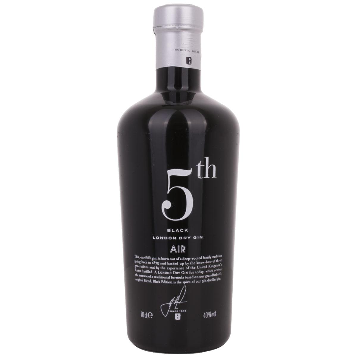 5th AIR Black London Dry Gin
